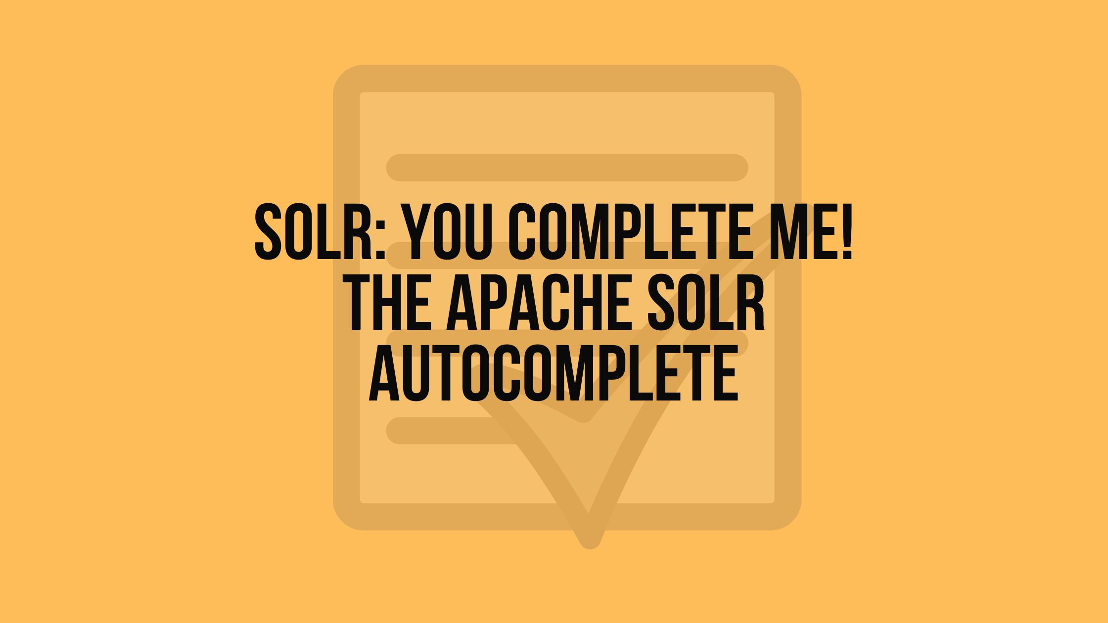 solr autocomplete
